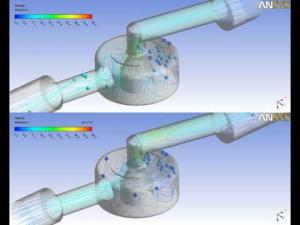 Embedded thumbnail for Анимация линий тока воды в клапане