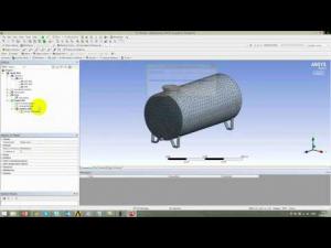 Embedded thumbnail for Связанный расчет спектрального отклика бака с жидкостью