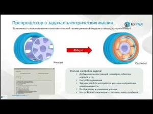 "Embedded thumbnail for Запись вебинара ""Новые возможности ANSYS 2019 R1 для электромеханики"""