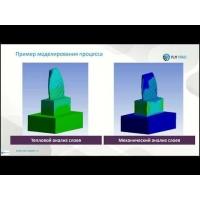 """Embedded thumbnail for Запись вебинара """"ANSYS для моделирования аддитивных технологий"""""""